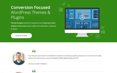 Thrive – landing pages